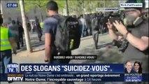 """""""Suicidez-vous"""": les slogans des gilets jaunes indignent les représentants de la police"""