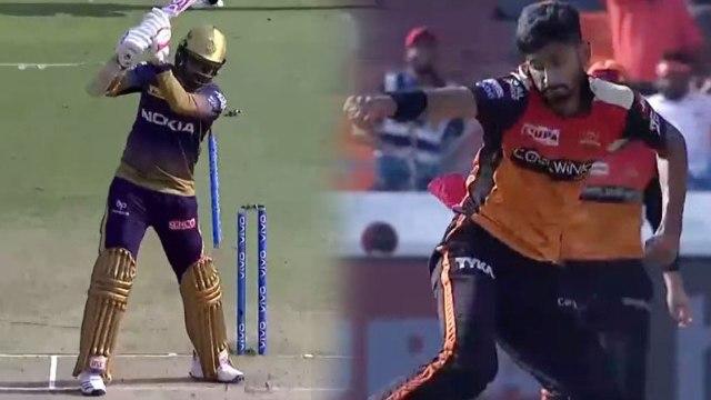 IPL 2019 KKR vs SRH: Khaleel Ahmed strikes in first over, Sunil Narine depart | वनइंडिया हिंदी