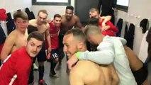 Coupe LAuRA Foot – La joie du vestiaire du FC DOMTAC après la qualification contre le FC LIMONEST-SAINT-DIDIER