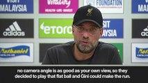 (Subtitled) 'Brilliant goal, I loved it!' Klopp