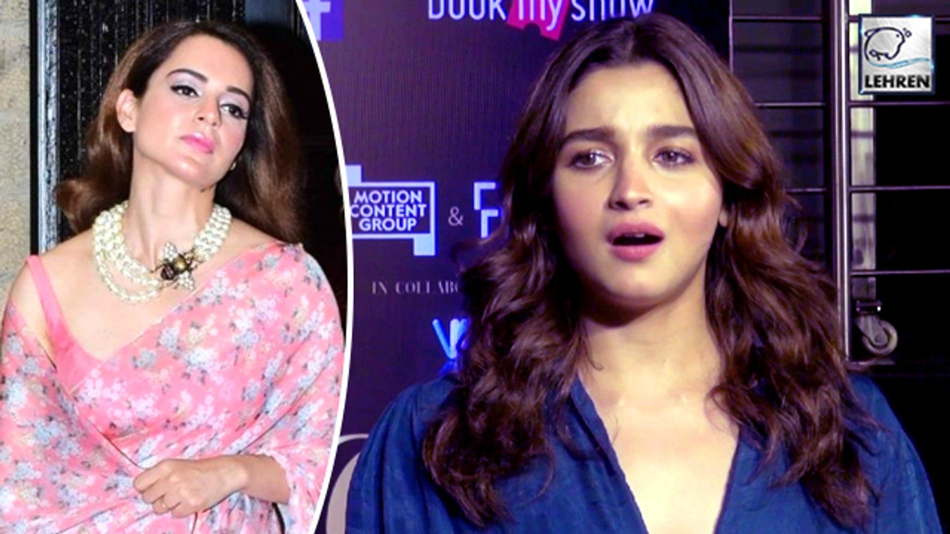 Alia Bhatt's Reply To Kangana Ranaut Is Worth To Watch