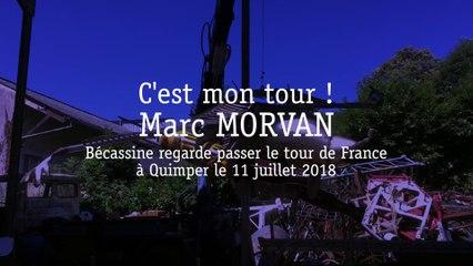 Marc MORVAN - Bécassine au Tour de France, Quimper le 11 juillet 2018