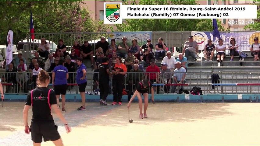 Finale, huitième étape du Super 16 féminin, Bourg-Saint-Andéol 2019