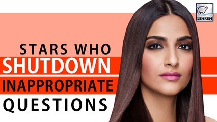 8 Times When Bollywood Stars Shut Down Inappropriate Questions