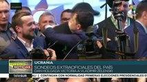 Sondeos a pie de urna inclinan elección ucraniana a favor de Zelenski