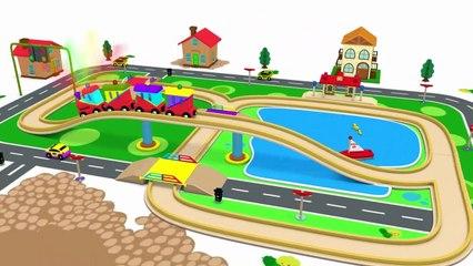 Choo Choo Train - Usine de Jouets Trains - Vidéos pour les Enfants de la Police de dessin animé - Train Jouet Vidéo – Trains