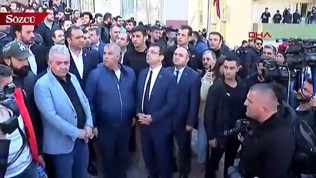 İBB Başkanı İmamoğlu, Kağıthane'de bina çöken bölgede incelemelerde bulundu