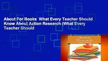 About For Books  What Every Teacher Should Know About Action Research (What Every Teacher Should
