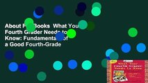 About For Books  What Your Fourth Grader Needs to Know  Fundamentals of a Good Fourth-Grade