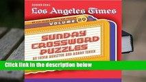 About For Books  Los Angeles Times Sunday Crossword Puzzles, Volume 29  Best Sellers Rank : #4