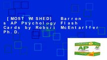 [MOST WISHED]  Barron s AP Psychology Flash Cards by Robert McEntarffer Ph.D.