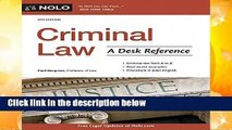 [MOST WISHED]  Criminal Law: A Desk Reference by Paul Bergman
