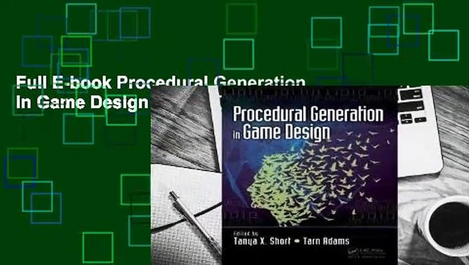 Full E-book Procedural Generation in Game Design For Free