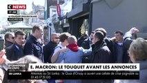 CNews : Emmanuel Macron au Touquet 21/04/2019