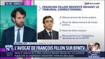 """D'après son avocat, François Fillon a réagi """"sans surprise"""" à l'annonce de son renvoi devant le tribunal correctionnel"""
