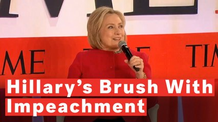 Audience Laughs After Hillary Clinton Mentions 'Personal History' With Impeachment