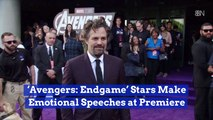 Marvel Heroes Are Weepy At The 'Avengers: Endgame' Premiere