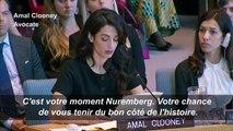 Amal Clooney réclame justice pour les Yazidies violées par l'EI