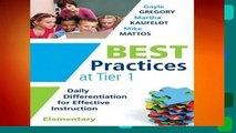 About For Books  Best Practices at Tier 1 [elementary]: Daily Differentiation for Effective