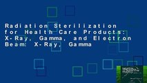 Radiation Sterilization for Health Care Products: X-Ray, Gamma, and Electron Beam: X-Ray, Gamma