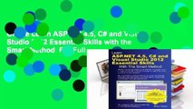 Online Learn ASP.Net 4.5, C# and Visual Studio 2012 Essential Skills with the Smart Method  For Full