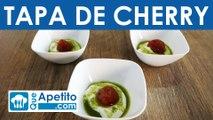 Tapa de tomate cherry con queso y pesto fácil y casera | QueApetito