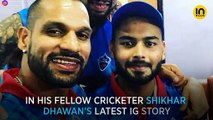Rishabh Pant is back to being a babysitter and this time, for Shikhar Dhawan's baby!