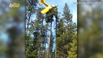Idaho Rescuers Save Pilot Who Crash-Landed On Top of 60 Foot Tree!