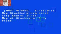 [MOST WISHED]  Streetwise Map Stockholm Laminated City Center Street Map of Stockholm: City Plans