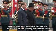 Kim Jong Un arrives in Vladivostok for his summit with Putin