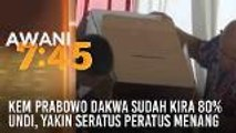 Kem Prabowo dakwa sudah kira 80% undi, yakin 100 peratus menang