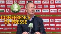 Conférence de presse AC Ajaccio - Stade Brestois 29 (0-2) : Olivier PANTALONI (ACA) - Jean-Marc FURLAN (BREST) - 2018/2019
