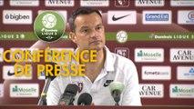 Conférence de presse FC Metz - Grenoble Foot 38 (1-1) : Frédéric  ANTONETTI (FCM) - Philippe  HINSCHBERGER (GF38) - 2018/2019