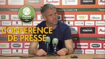 Conférence de presse RC Lens - FC Lorient (0-1) : Philippe  MONTANIER (RCL) - Mickaël LANDREAU (FCL) - 2018/2019
