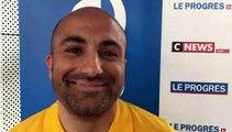 Tirage Coupe du Rhône – Mickael JOUTZ (FC Val Lyonnais) réagit après le tirage des QUARTS