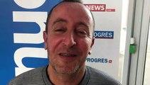 Tirage Coupe du Rhône – Karim DAHA (O. Rillieux) réagit après le tirage des QUARTS
