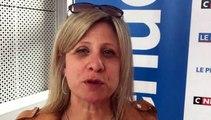 Tirage Coupe du Rhône – Martine GRANOTTIER (District L&R) réagit après le tirage des QUARTS