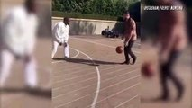 French Montana Plays Basketball With Kanye West