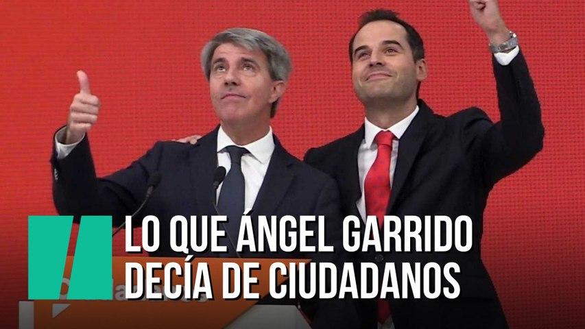 Lo que Ángel Garrido decía de Ciudadanos antes de fichar por ellos
