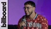 Anuel AA Explains How He Met Karol G   Billboard Latin Music Week 2019