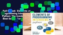 Full E-book  Elements of Programming Interviews in Python: The Insiders' Guide  Best Sellers Rank