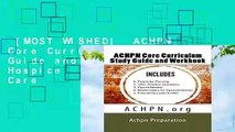 P D F] ACHPN Core Curriculum Study Guide and Work Book