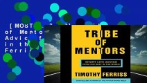 [MOST WISHED]  Tribe of Mentors: Short Life Advice from the Best in the World by Timothy Ferriss