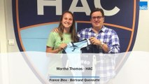 Martha Thomas, attaquante du Havre AC - France Bleu Normandie