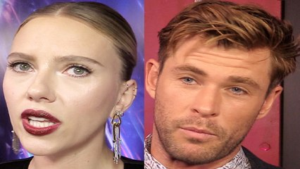 Scarlett Johansson & Chris Hemsworth Interview Avengers Endgame Premiere