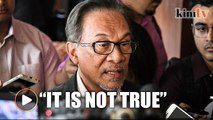 Rumours of a rift between Dr Mahathir and Muhyiddin are not true, says Anwar
