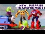 Transformers Cyberverse Autobots Blind Bags with Funny Funlings and Thomas and Friends, Bumblebee and Optimus Prime Opening them when they Rescue them in this family friendly full episode english story for kids
