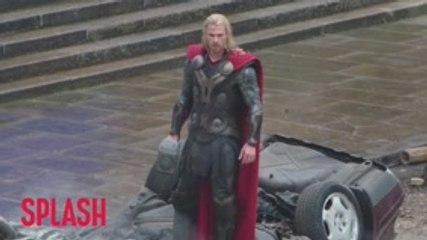 Chris Hemsworth Steals Marvel Props