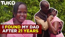 Kenyan Lady Reunited With Her Dad After 21Years