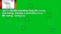 [GIFT IDEAS] Activities Keep Me Going and Going  Volume a (Activities Keep Me Going   Going) by